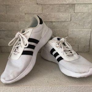 Adidas Lite Racer White/Black/White 8.5